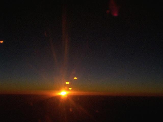 の sky 光 橙色